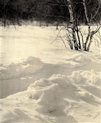 ohne titel (winterlandschaft) by william b. post