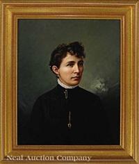 portrait of a lady; portrait of a gentleman by franklin c. courter