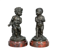 little boy and little girl (2 works) by jean-pierre pigalle