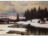 schwarzwaldlandschaft im schnee by hermann dischler