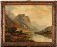 river through a mountain landscape by thomas c. blake