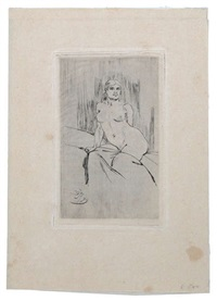sans titre (+ l'attente; set of 2) by félicien joseph victor rops
