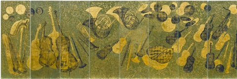 panels (suite of 8 from the roseland ballroom) by pierre bobot