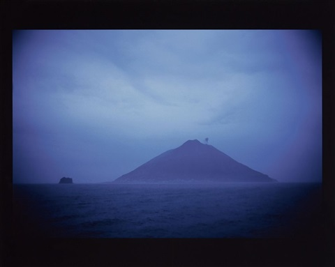 volcano stromboli at dawn by nan goldin
