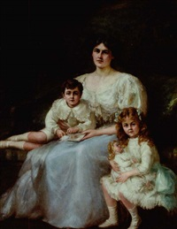 portrait of ada scott and her two children by charles goldsborough anderson