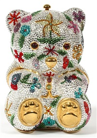 teddy bear minaudiere by judith leiber