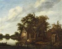 river landscape by cornelis gerritsz decker