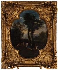 vénus et cupidon dans un paysage by francesco albani