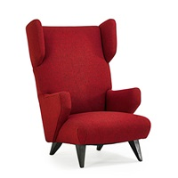 rare wing-back lounge chair by jens risom