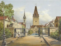 murtentor gegen den christoffelturm by adolf methfessel