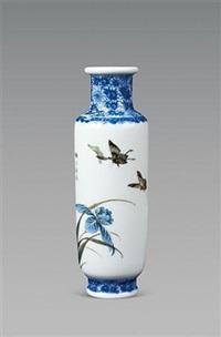 兰花蝴蝶纹瓶 by liu yucen