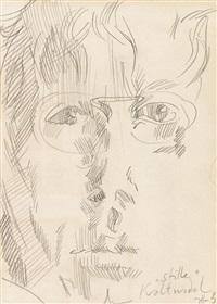 selbst nocturne (+ selbst stille kaltnadel ., 1983; 2 works) by horst janssen