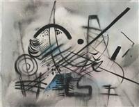 abstrakte komposition über polychromem grund by casper walter rauh