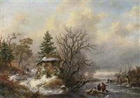 winterlandschaft by frederik marinus kruseman