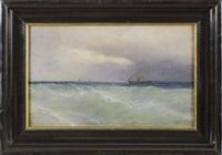 schiffe auf dem schwarzen meer by mikhail alisov