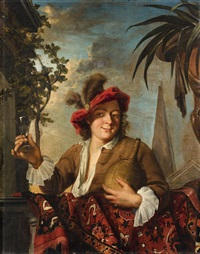 young man with a glass of wine by ary de vois