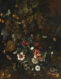 still life with flowers and fruit by nicolaes lachtropius