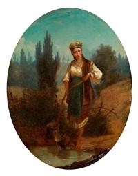 ukrainisches mädchen by sergei ivanovich vasil'kovsky