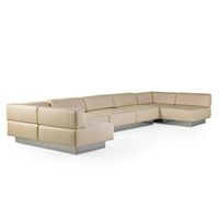 seven-seat sectional sofa by harvey probber