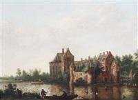 riverside chateau by hendrik frans de cort
