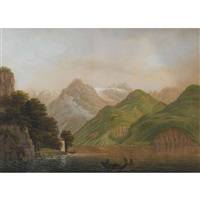 capelle tellenblatt am vierwaldstättersee by johann heinrich bleuler the elder