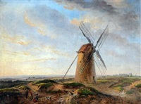 sussex windmill by charles tattershall dodd the elder