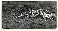 strausse/löwe und zebras/ afrikanischer elefant (3 works) by gerhard marcks