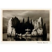 the bathing sea horse, the death island after boecklin (2 works) by thomas herbrich