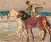 caballos en la playa by josé mongrell torrent