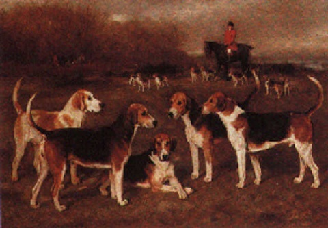 charles payne with the dumfriesshire hounds by david george steell