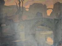 pot de cordemois avec vue sur le château de bouillon by albert raty