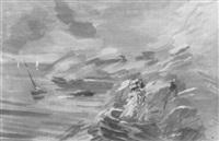 nordseeküste mit staffagen by fedor smirnov