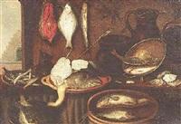 stilleben mit fischen by isaac van duynen