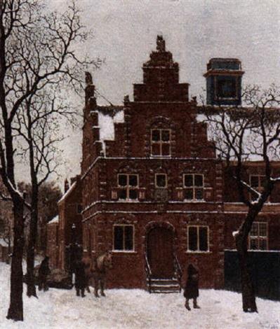 eerste sneeuw stadhuis graft by bart peizel