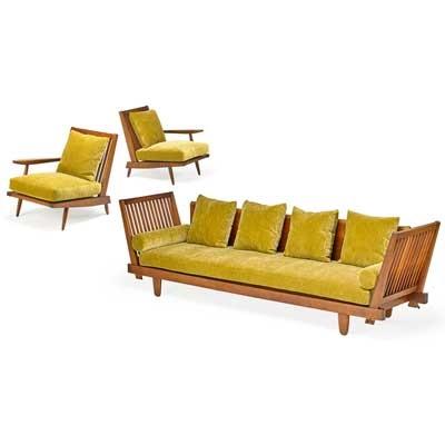 Cushion Sofa With Pair Of Single Arm