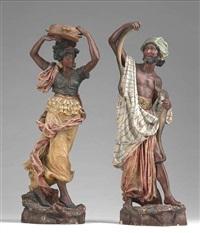 tanzendes, orientalisches paar (pair) by jean rordorf