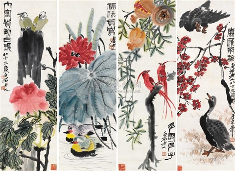flowers and birds by qi baishi
