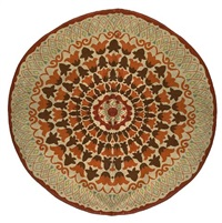 circular carpet by jules and paule leleu