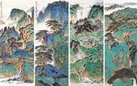 山水 (in 4 parts) by xu jianming