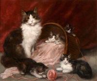 katzenfamilie by henriette ronner-knip