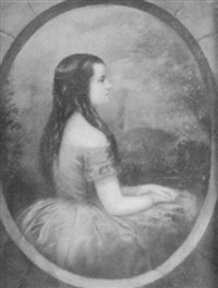 a portrait of a young woman by george g. fish