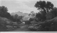 the river nidd, yorkshire by f.c. ellerman