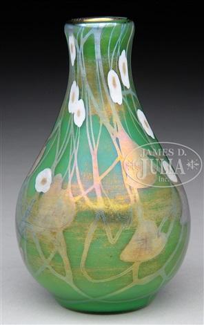 Steuben Green Millefiori Vase By Steuben Glass On Artnet