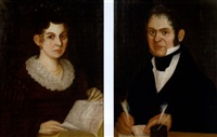 portrait of daniel lake (+ portrait of susan lake; pair) by thomas ware