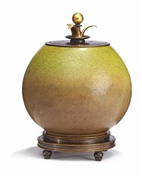 lidded jar by bode willumsen and knud andersen