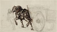 the coal wagon by théodore géricault