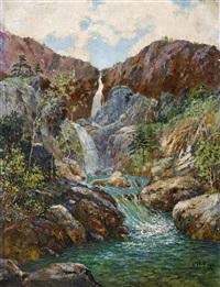 waterfall by xian yudan