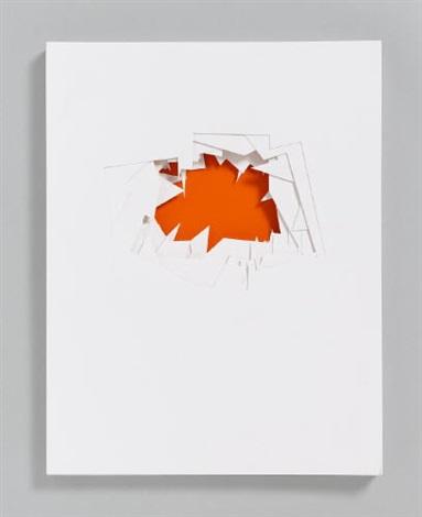 mennigebilder linen case w54 punctured sheets and exhibition booklet by imi knoebel