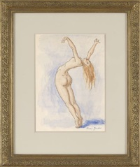 standing arching nude by francis gruber
