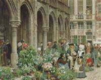 blomstermarknaden i brabant på 1500-talet by georg von rosen